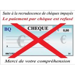 Chèque refusé 25x18cm