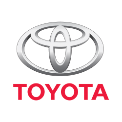 Toyota couleur découpé