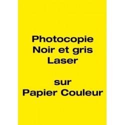 Photocopie sur papier couleur