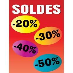 Affiche soldes couleur