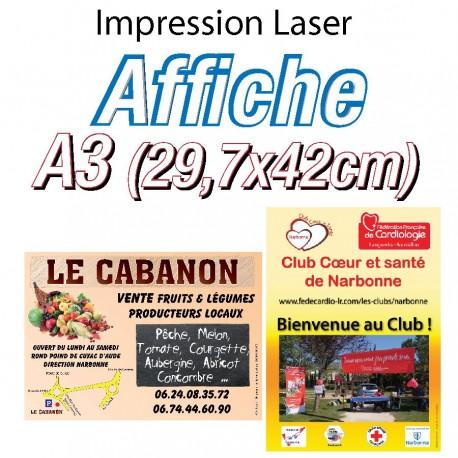 Affiche A3 laser