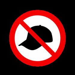 Interdit aux casquettes