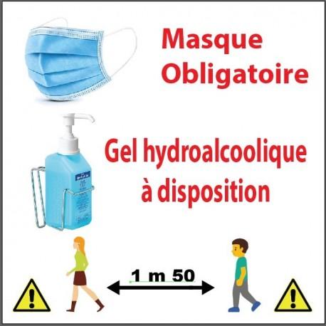 masque-obligatoire gel-distance
