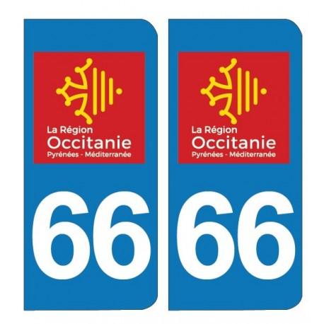 PLAQUE IMMATRICULATION - 66 - Pyrénées-Orientales