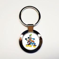 Porte-clés Dingo-Donald-Mickey