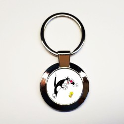 Porte-clés Titi-&-Gros-minet
