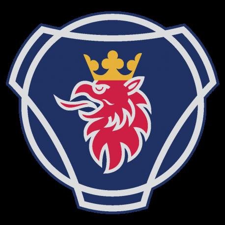 Autocollant logo scania couleur