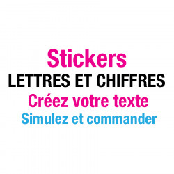 Stickers Lettres Adhésives