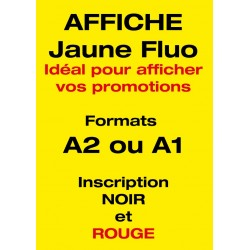 Affiche Jaune Fluo personnalisée