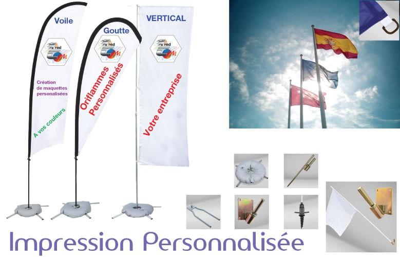 Drapeaux horizontal personalis